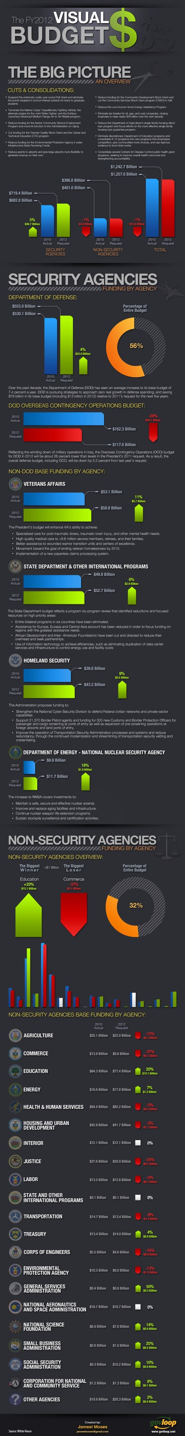 visual budget 2012 infographic