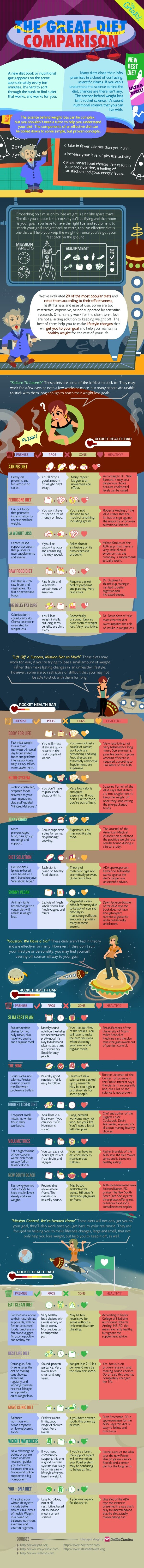 The Great Diet Comparison Infographic