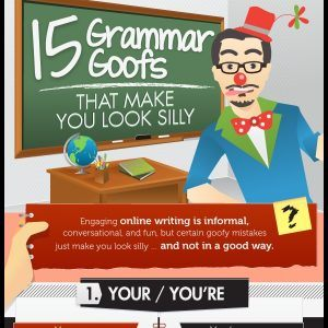 15 Grammar Goofs That Make You Look Silly Infographic1 300x300
