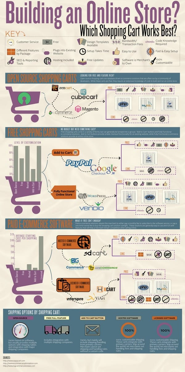 Building an Online Store Infographic