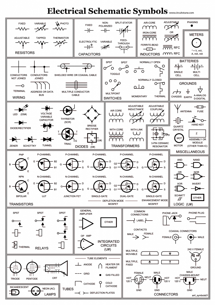 Electrical Schematic Symbols 721x1024