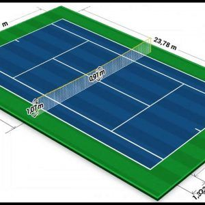 Tennis Court Dimension and Layout 300x300