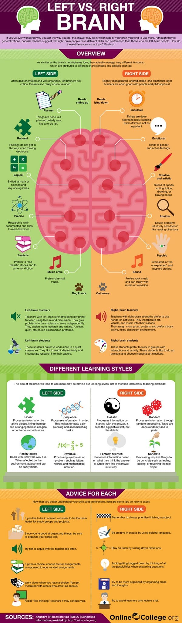 Are You Left or Right Brain Infographic